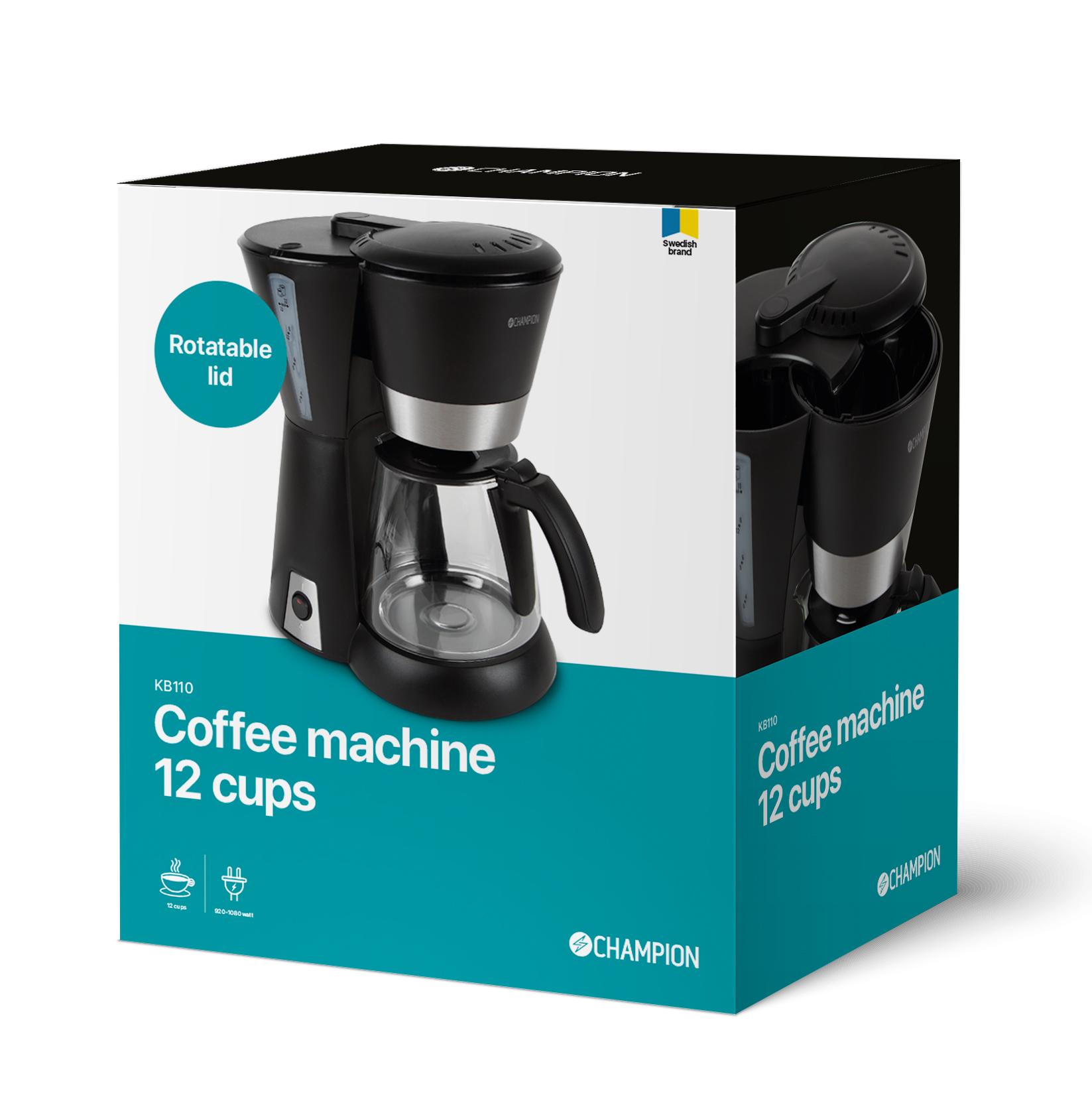 Drip kaffebryggare Svart 12 koppar