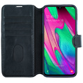 Slim Wallet Case Galaxy A40 Svart
