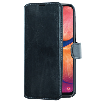 Slim Wallet Case Galaxy A20e Svart
