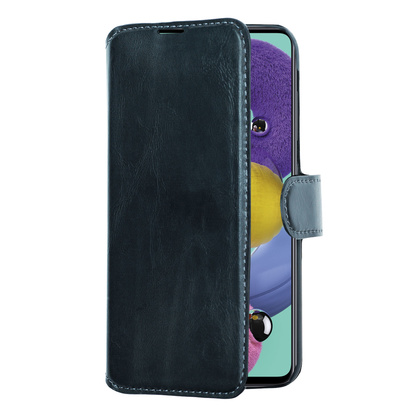 Slim Wallet Case Galaxy A51 Svart