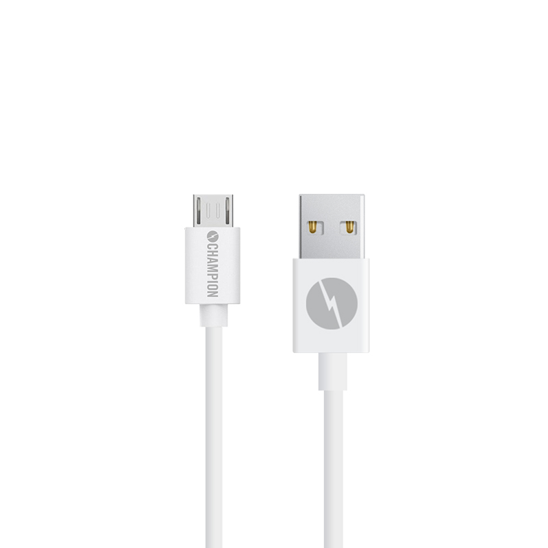 Ladd&Synk kabel MicroUSB 2m Vit