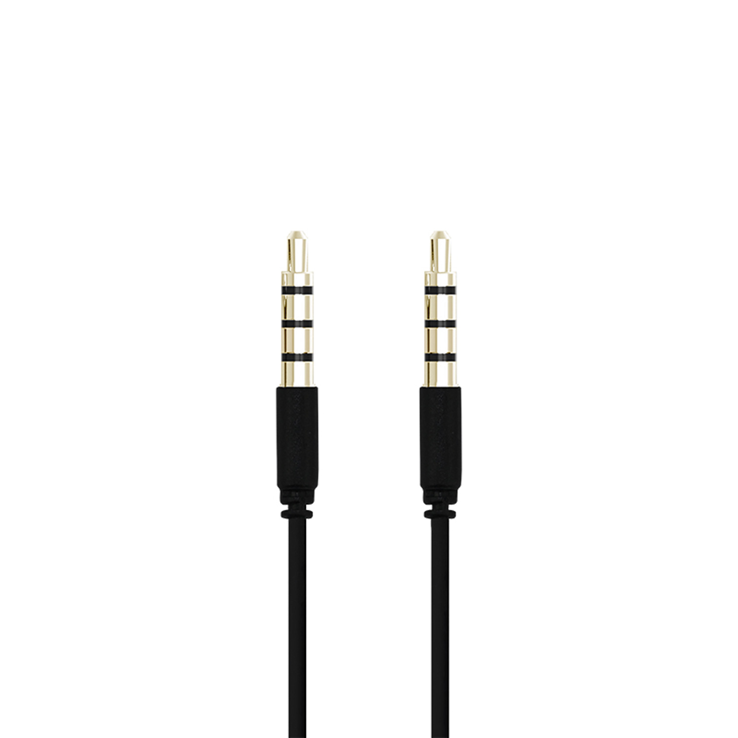 3,5mm Audiokabel 1m Svart